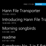 Hann File Transporter – Upload and download files to Windows Phone