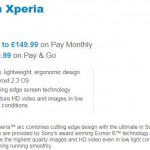 Xperia arc now selling on o2