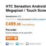HTC Sensation priced up SIM free – £499.99