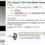HTC Desire Z – Just £265 !