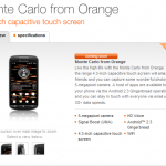 Orange Monte Carlo listed  as 'Coming Soon'.