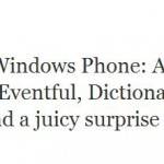 Windows Phone surprise arriving tomorrow