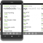Evernote for WP7 now available