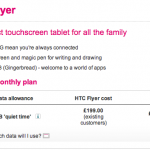 HTC Flyer Now On T-Mobile UK