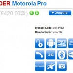 Motorola Pro ready for pre-order, now arriving August