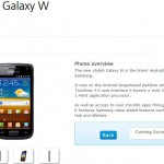 O2 to range the Samsung Galaxy W