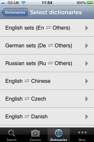 Dictionary selection