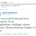 HTC Sensation handsets on Three receiving Android 2.3.4