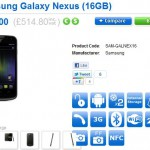 Galaxy Nexus to be available network-free for around £515