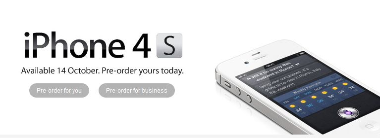 iphone4s vodafonepre order