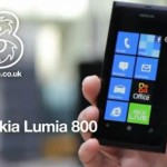 Three to carry the Nokia Lumia 800