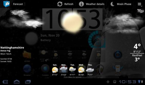 Acer Iconi Weather
