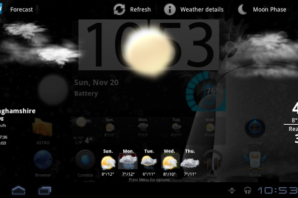 Acer Iconi Weather