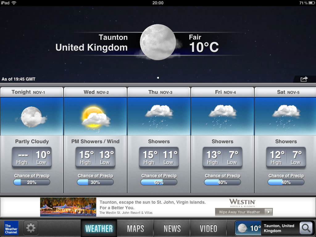 ipad    iphone app - the weather channel