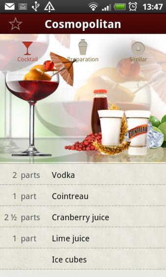 cocktail details cosmopolitan