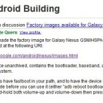 Factory images available for Galaxy Nexus