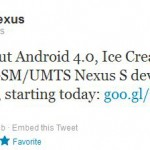 Nexus S Ice Cream Sandwich roll-out begins