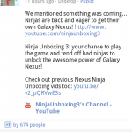 So what did Android Google+ have instore for us?