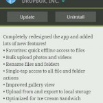 Dropox Android app update