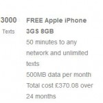 Fancy yourself an iPhone 3GS for £15.42 a month?