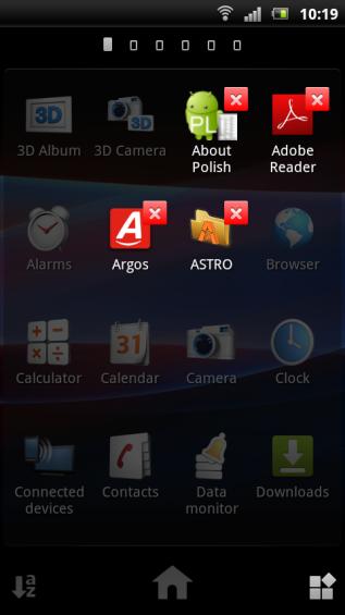 SE Xperia pro screenshot   launcher 2