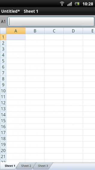 SE Xperia pro screenshot   spreadsheet