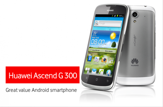 Vodafone To Sell Huawei Ascend G300