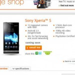 Orange add the Xperia S to Coming Soon pages