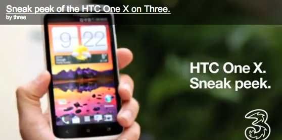 Three to also sell the HTC One X