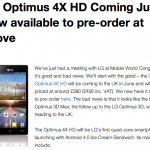 LG Optimus 4X HD & 3D Max Information