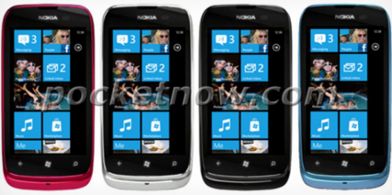 MWC   Nokia Lumia 610 Leaked Colours