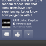 Asus Transformer Prime receiving update to fix random reboots