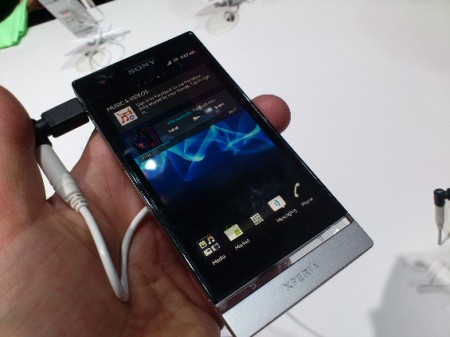 MWC   Xperia P   Up close