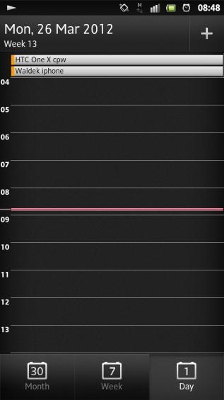 SXS screenshot calendar daily