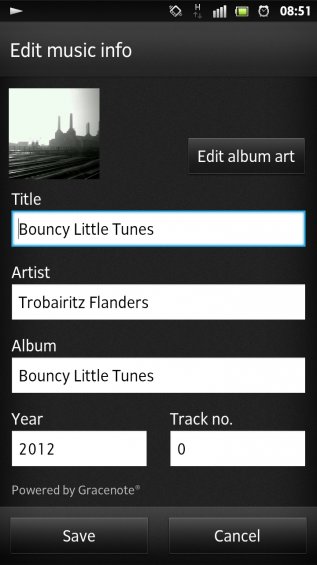 SXS screenshot music player id3tag editor