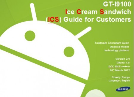 Samsung Galaxy SII Ice Cream Sandwich   The details