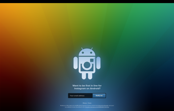 Instagram for Android   sign up quick