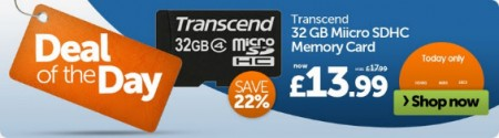 Grab deal on a Transcend 32GB   24 hours only