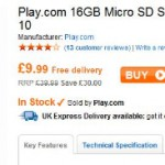 16GB MicroSD – Cheap deal for your Wednesday morning