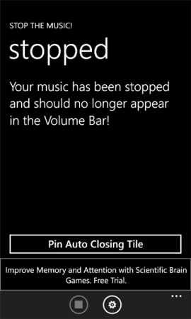 Coolsmartphone Recommended Windows Phone app   Stop the music