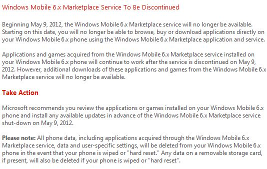 Marketplace for Windows Mobile 6.x   Two months and counting