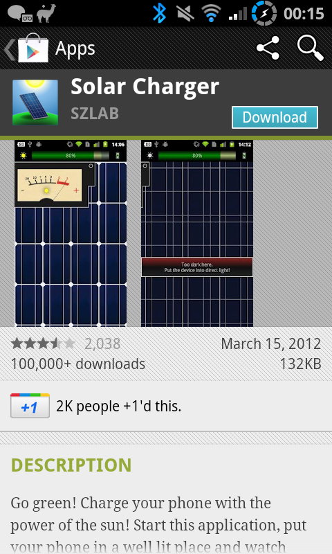 Solar Charger app pokes fun at those daft enough to believe