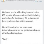 ICS SII update for Orange customers not ready just yet