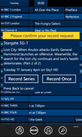 TV Guide+ is now available in the Windows Phone Marketplace