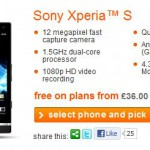 Xperia S, now available to buy on Orange