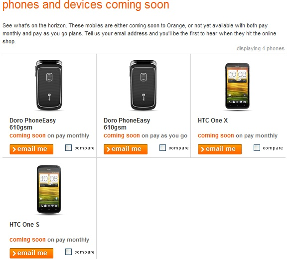 HTC One X and S heading to Orange