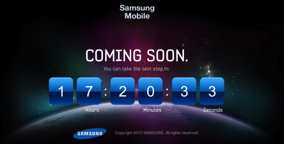 Samsung begins Galaxy S3 countdown