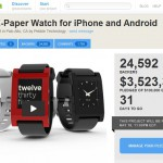 Pebble E-Paper Smart Watch Breaks Kickstarter records