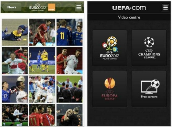 Official UEFA 2012 App Launched