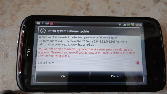 Ice Cream Sandwich being delivered to HTC Sensation owners